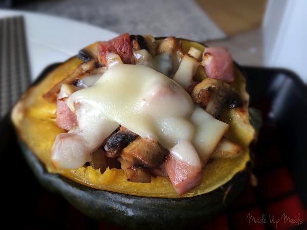 Ham Stuffed Acorn Squash | Made Up Meals | MadeUpMeals.com | Made Up ...